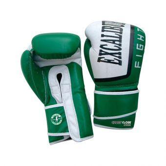 Перчатки боксерские Excalibur 529-03 Trainer  белый/зеленый  (ФИТНЕС)
