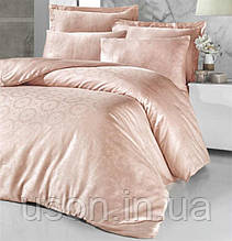 Комплект постельного белья жаккард Tм Victoria 200*220 Valeria cream