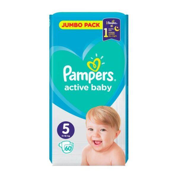 Подгузники Pampers Active Baby Размер 5 ( 60 шт / 11-16 кг) JUMBO PAKC