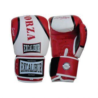 Перчатки боксерские Excalibur 550-05 Forza  белый/красный  (ФИТНЕС)