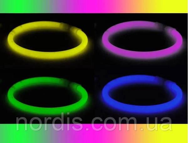 Светящиеся неоновые браслеты.10 штук.Миксуем разные цвета.