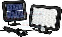 Светильник LF-1629А уличный прожектор аккумуляторный с Датчиком движения Солнечной панелью Провод 5м IP65