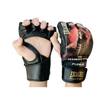 Перчатки MMA Excalibur 680 S черный  (ФИТНЕС)