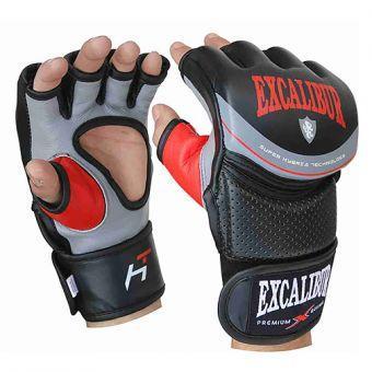 Перчатки MMA Excalibur 687-01 S серый/черный/красный  (ФИТНЕС)
