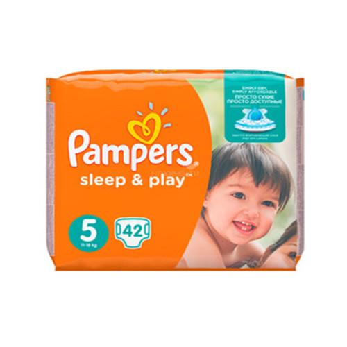 Подгузники Pampers Sleep&Play Junior 5 ( 42 шт / 11-16 кг )
