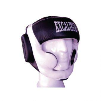 Шлем боксерский Excalibur 714 L белый/черный  (ФИТНЕС)
