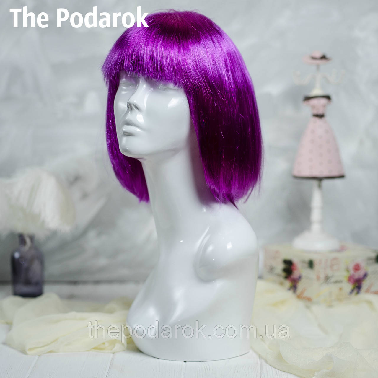 Парик Каре (фиолетовый)