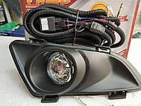 Противотуманные фары (комплект) - Mazda 6 2003 - 2005 г c проставками и комплектом электропроводов DLAA