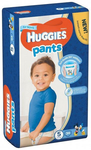 Подгузники-трусики Huggies Pants для мальчиков 5 ( 34 шт / 12-17 кг)