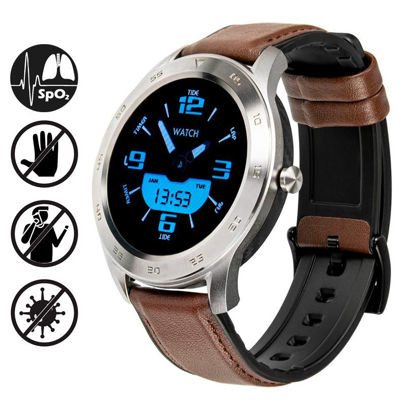 Умные часы Gelius Pro GP-L3 (URBAN WAVE 2020) (IP68) Серебряный/Темно-Коричневый