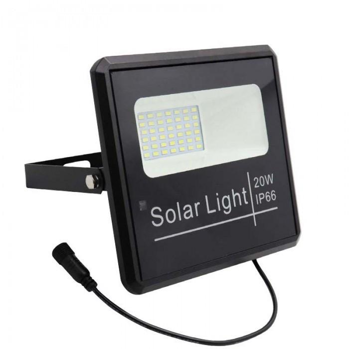 Прожектор на солнечных батареях Vargo 25W уличный с пультом