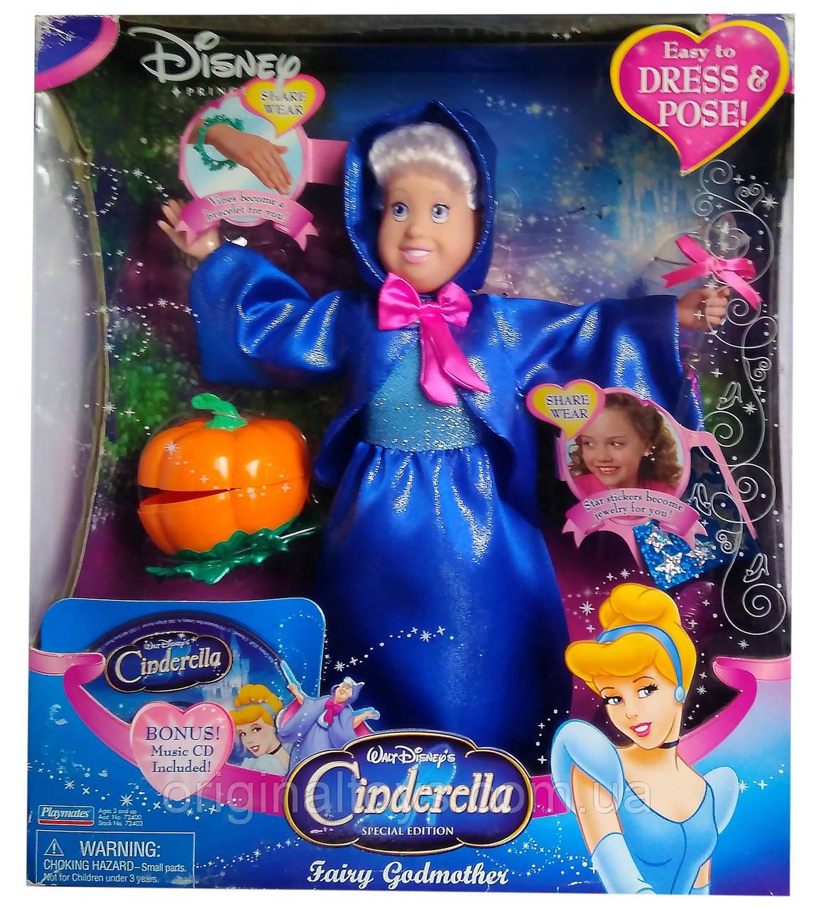 Коллекционная кукла Добрая фея Золушка Дисней Fairy Godmother Cinderella Disney