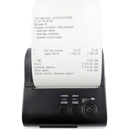 Портативный Bluetooth принтер чеков JP-80LYA  (80 мм) Android IOS Apple