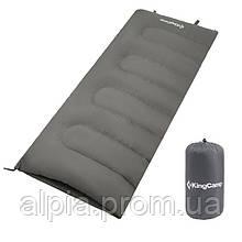 Спальный мешок KingCamp Oxygen/+12°C, серый (L)