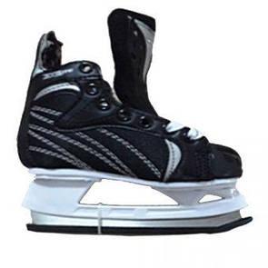 Коньки хоккейные мужские детские для хоккея Winnwell hockey skate размер 33 (дом)