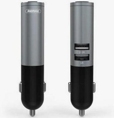 Автомобильная Bluetooth гарнитура с возможностью зарядки Remax RB-T11C Черная