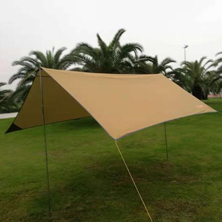Пляжный тент, туристический, GreenCamp, песочный, GC0281Y + Подарок