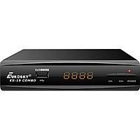 Цифровой эфирный DVB-T2 ресивер Eurosky ES-19 HD Combo (T2 и спутник в одном тюнере)
