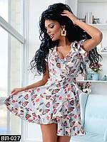 Женское летнее платье в цветочек Разные цвета, фото 1