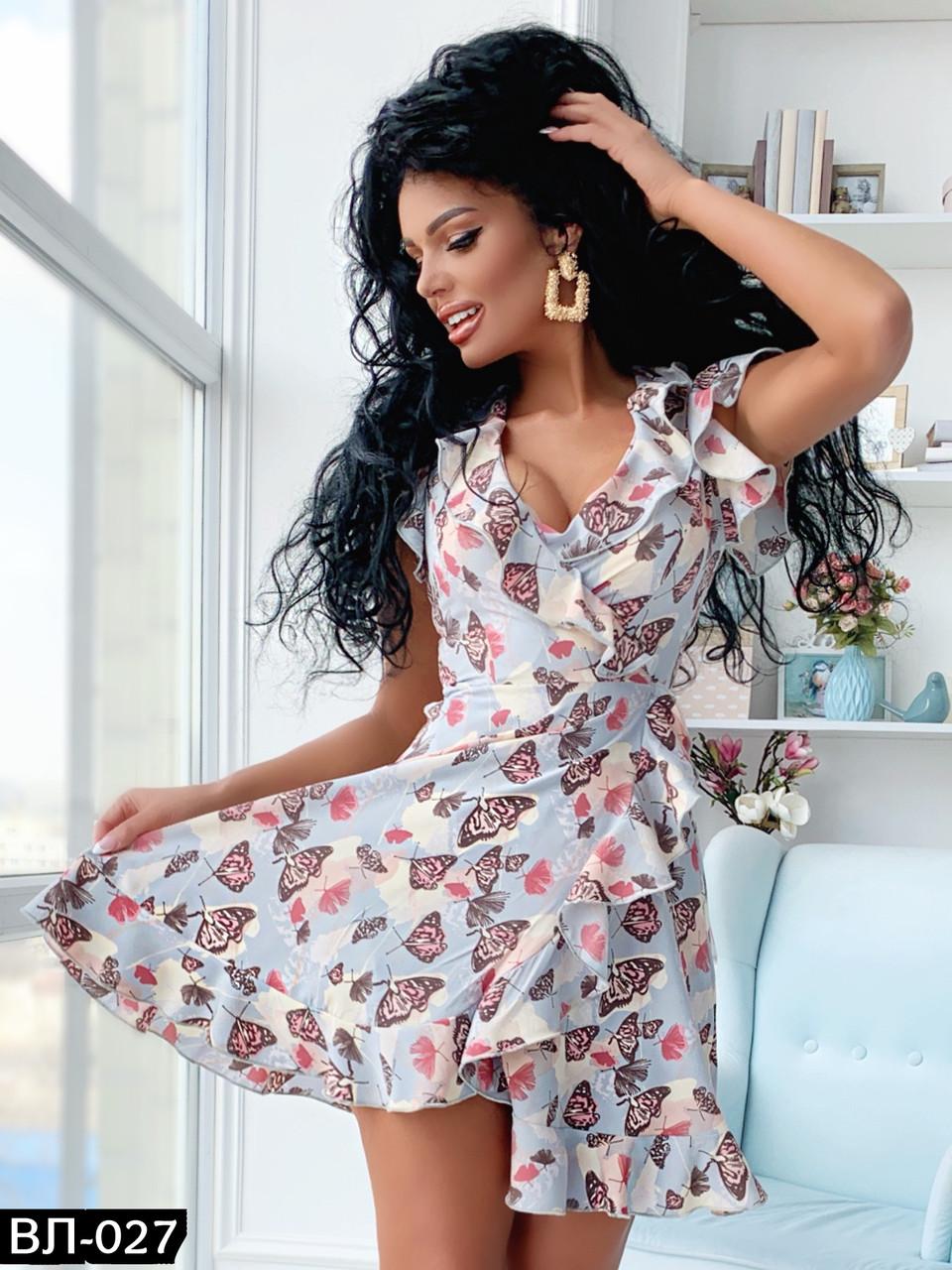 Женское летнее платье в цветочек Разные цвета
