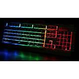Игровая проводная клавиатура с мышкой и LED подсветкой K33, фото 3