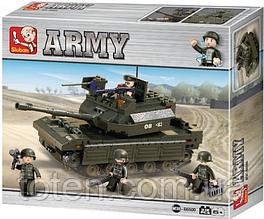 """Конструктор Sluban """"Сухопутные войска""""  Армия, танк, 312 деталей  M38-B6500"""