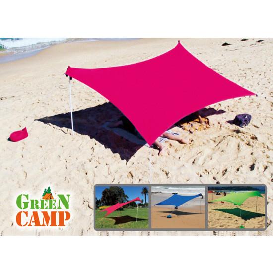 Пляжный тент туристический, GreenCamp, синий, красный, зеленый, GC1046