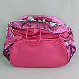Рюкзак женский из экокожи c пайетками 24x24x11 Розовый, фото 2