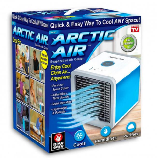 Портативный мини кондиционер Arctic Air Ultra LED подсветка + увлажнитель воздуха