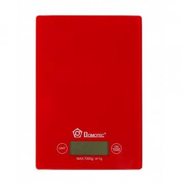 Кухонные весы Domotec MS 912 до 7 кг Красные (46045)