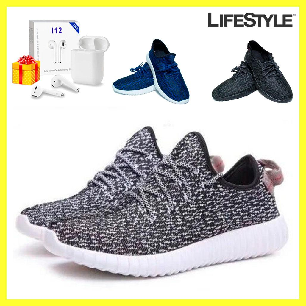 Стильные кроссовки Adidas Yeezy Boost 350 + Наушники Airpods в Подарок