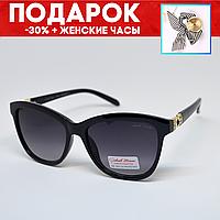 Очки женские солнцезащитные поляризованные +подарок часы +чехол Очки солнцезащитные красивые