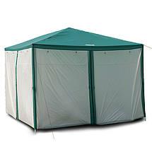 Шатер туристический, палатка, садовый с москитной сеткой GreenCamp, 3х3 метра, цвет зеленый +Подарок, фото 3