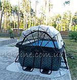 """Бассейн EXIT каркасный прямоугольный с куполом 400 х 200 х 100 см с насосом для фильтра с картриджем """"камень"""", фото 10"""