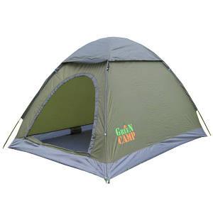Двомісна палатка туристична для відпочинку GreenCamp, колір сірий