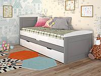 Детская кровать Компакт. Деревянная двухместная кровать