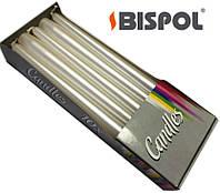 Свечи праздничные BISPOL (10шт) перламутровые