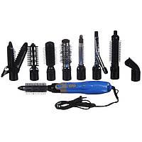 Фен воздушный стайлер для укладки волос с насадками 10 в 1 GEMEI (повітряний стайлер для волосся)