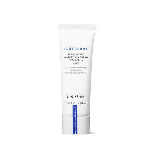 Увлажняющий солнцезащитный крем Innisfree Blueberry Rebalancing Watery sun cream SPF 37 PA+++