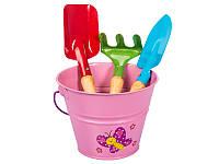 Набор садовых инструментов детский розовый Kid's Garden Stocker 2329