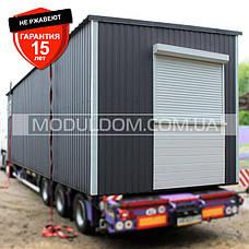 Блок модуль, мобильный офис (9 х 3 м.), на основе цельно-сварного металлического каркаса., фото 2