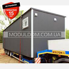 Блок модуль, мобильный офис (9 х 3 м.), на основе цельно-сварного металлического каркаса., фото 3