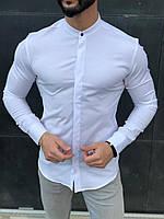 Рубашка мужская воротник стойка .