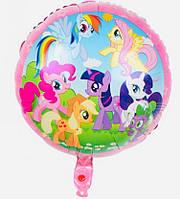 """Воздушный шар 09036-28 фольга """"My Little Pony"""", 45х45см уп50"""