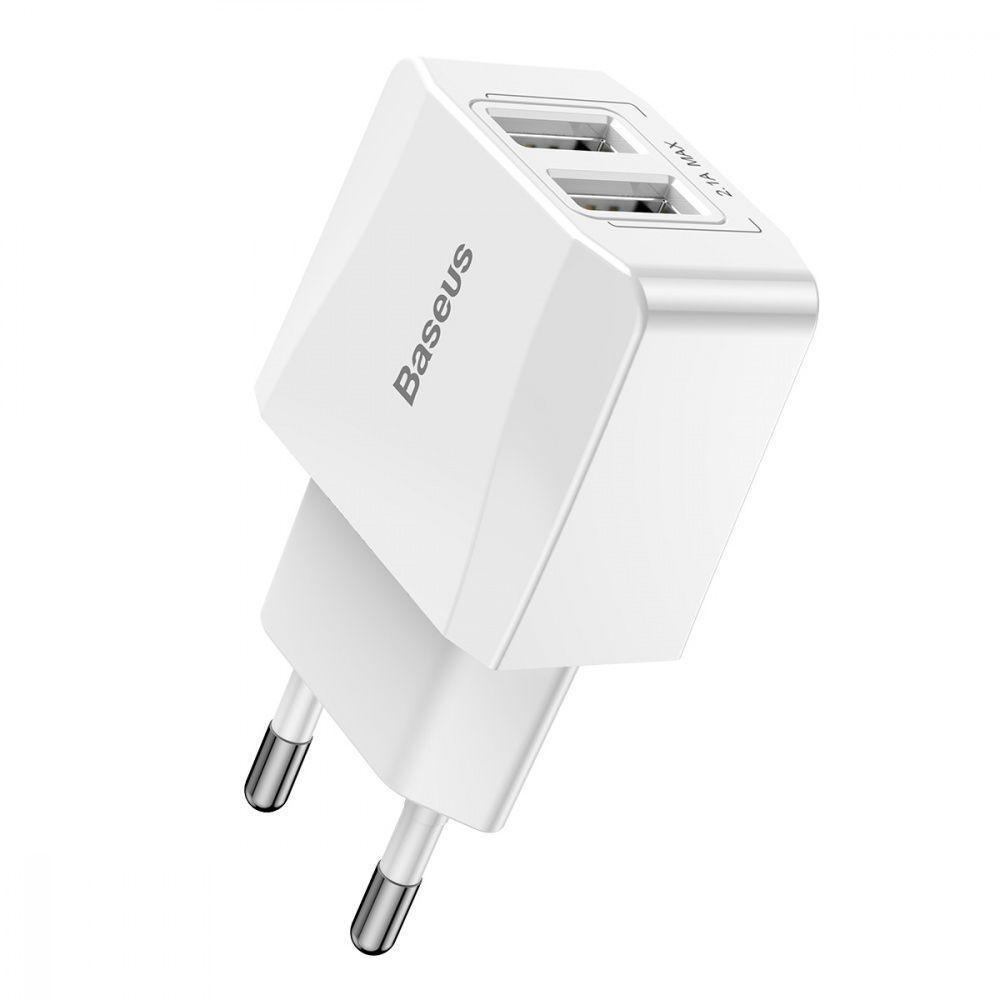 СЗУ Baseus Mini Dual U Charger 2.1A 2USB white