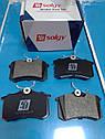 Колодки тормозные задние на VW Caddy III 04- / Peugeot 308 07- / Citroen C 4 Solgy, фото 2