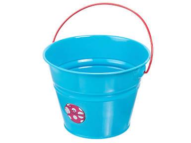 Детское ведро металлическое голубое Штокер Kid's Garden (Stocker 4926)