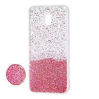 Чехол для Xiaomi Redmi 8A Fashion блестки + popsocket розовый