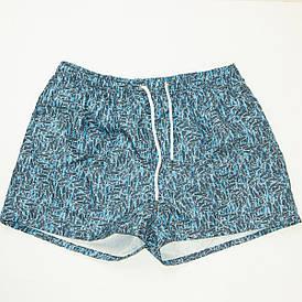 Мужские пляжные шорты для купания (арт. 20159) голубые L