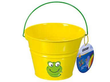 Дитяче відро металеве жовте Штокер Kid's Garden (Stocker 4915)